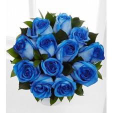 12 pcs. Imported Holland Blue Roses* in a Bouquet 2