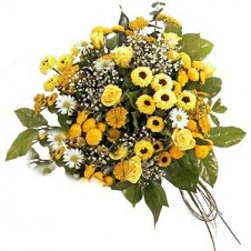 Hand Tied Yellow Flowers