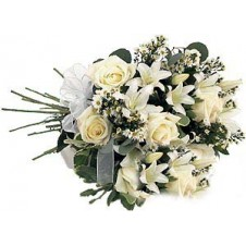 Lovely Hand Tied Bouquet of White Flowers