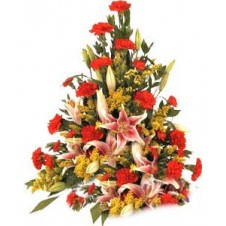 Attractive One Sided Arrangement of Flowers