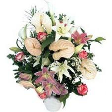 Premium One Sided Vase Arrangement of Flowers