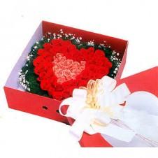 Heart Shaped Basket full of Roses
