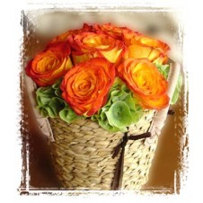 Cheerful Combination of Brightly Colored in a Vase