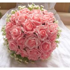 2 dozen Pink Roses in Bouquet