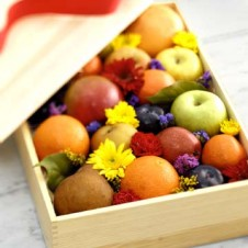 Basket of Fresh Apple, Orange