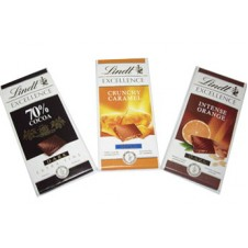 Lindt Excellence Chocolate in 3 Variation