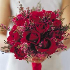 1 dozen Red Roses in Bouquet