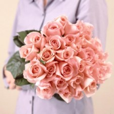 2 dozen Peach Roses in a Bouquet