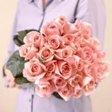 2 dozen Peach Roses in a Bouquet