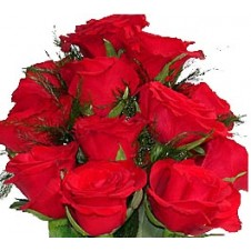 One dozen Red Roses in Bouquet