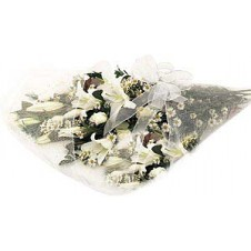 White Lovely Wrapped Bouquet