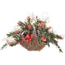 Lovely Basket of Pink Roses