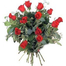 Lovely Hand Tied Bouquet of Red Roses
