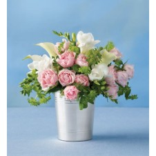 Pink Roses with Calla Lilies in a Vase