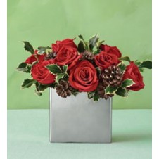 Cute Red Roses in a Vase