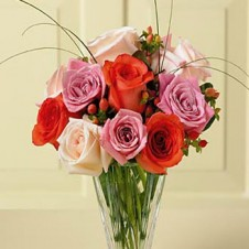 Multicolor Roses in a Vase1
