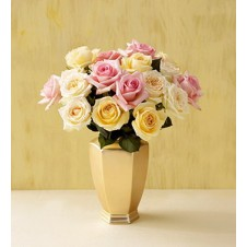 Mixed Roses in a Vase 1