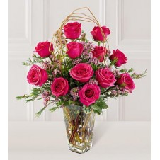 1 Dozen Red Roses in a Vase
