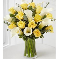 Yellow Holland Roses in a Vase