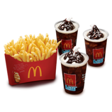 Bundle Fries 'N McFloat Combo by Mc Donalds
