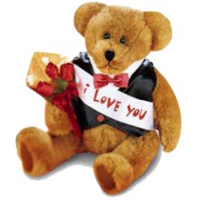 Flowers with Teddy Bears