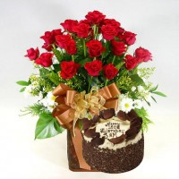 Flowers with Cakes