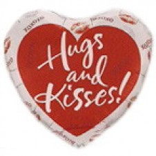 1 pc HUGS AND KISSES Balloon