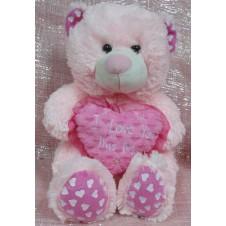 Pink I Love You Hug Bear