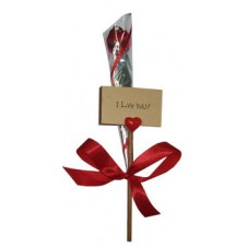 I Love You Placard plus Scented Artificial Rose by Blue Magic
