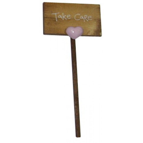 "Take Care Placard (Size: 7.5"") by Blue Magic"