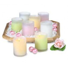 8 Candle Filled Glass Votives