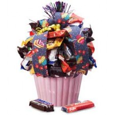 Celebration Chocolate Candy Cupcake