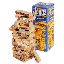 Jenga Build-Up Wooden Blocks