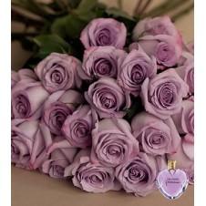 2 Dozen Purple Roses in a Bouquet