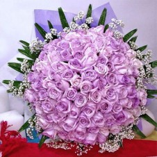 5 Dozen Imported Holland Purple Roses* in a Bouquet