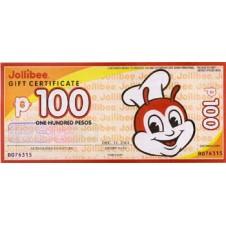 500 Peso Jollibee Gift Certificate