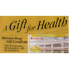 500 Peso Mercury Drug Gift Certificate