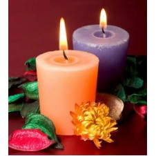2pcs Colorful Medium Size Candles