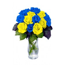 Promo Blue Yellow in a Bouquet