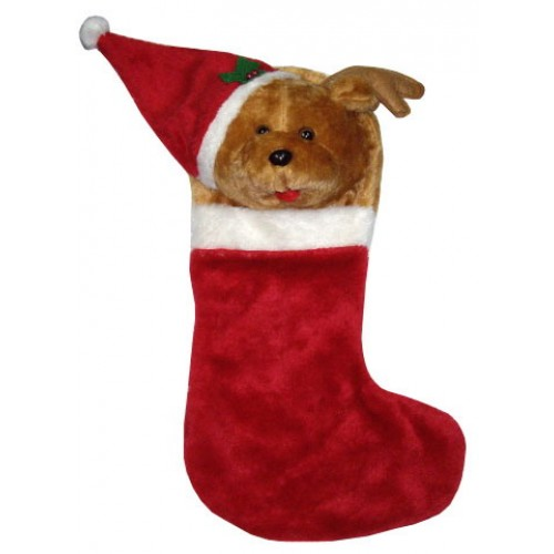 Rudolph Sock Christmas Ornament