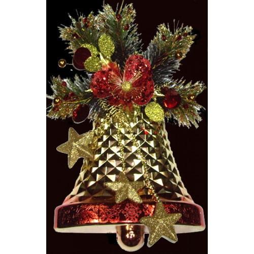Glittered Christmas Bell