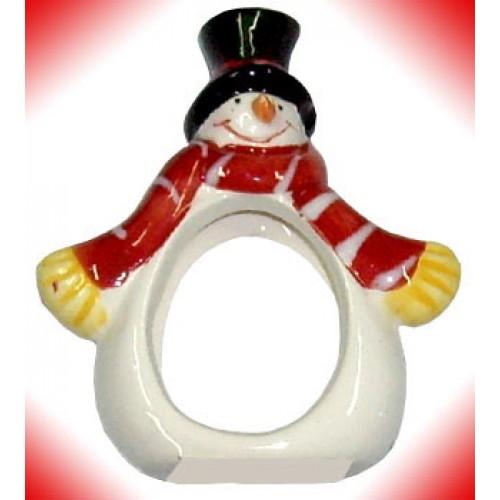Mini Snowman in Red Scarf