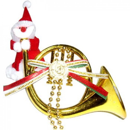Santa's Trumpet Christmas Ornament