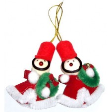 Two Little Santa Christmas Ornament