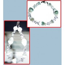 White Cats Eye Swarovski Bracelet 1