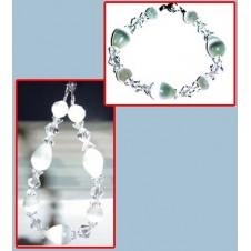 White Cats Eye Swarovski Bracelet 1