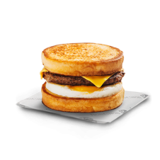French Toast Sandwich with Sausage Patty by Bonchon