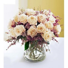 White Roses in a Small Vase