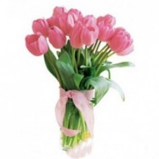 12 Pcs Tulips in A Vase