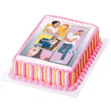 Girl Stripes Cake by Red Ribbon